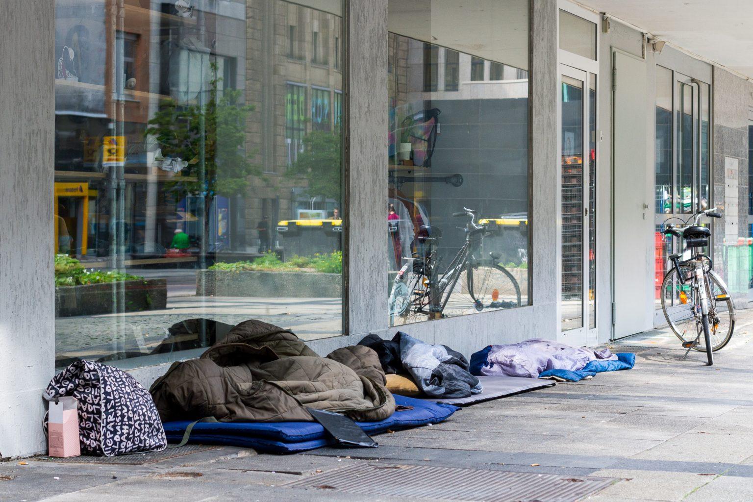 Ein Schlafplatz in der Dortmunder Innenstadt.