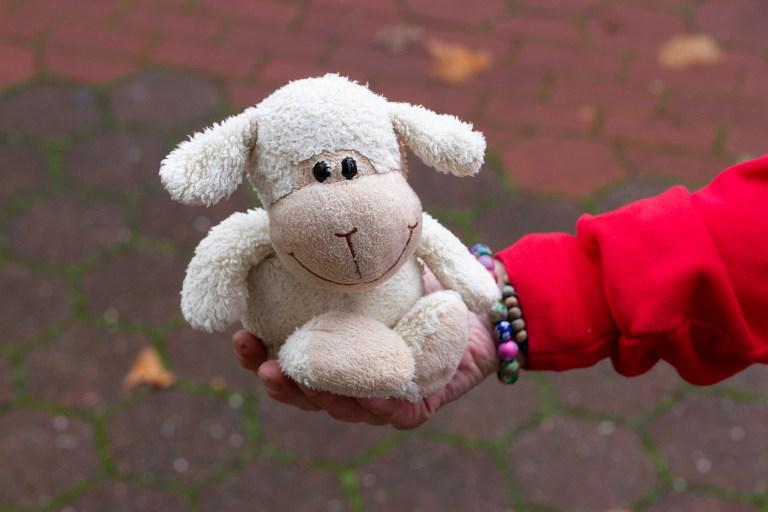 Ela, bodo-Verkäuferin in Bochum: Das ist Lumlum. Den habe ich meinem Sohn damals zur Geburt gekauft. Jeden Abend habe ich ihm vorgelesen, er hat nie am Daumen gelutscht, er wollte nur mit Lumlum kuscheln. Jetzt ist mein Sohn erwachsen, und Lumlum ist wieder bei mir und hilft mir durch schwere Nächte.