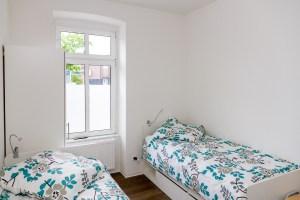 Ein Doppelzimmer in der Notschlafstelle für junge Erwachsene in Dortmund